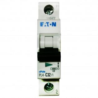 Модульный автоматический выключатель PL6-C50/1, 6kA, 1p, 50A MOELLER-EATON