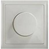 Панель светорегулятора с диском, белая