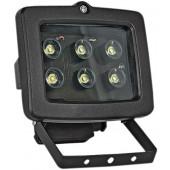Прожектор светодиодный 6Вт, 2700К, черный, E.NEXT