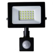 Прожектор світлодіодний LED 30W ultra 6400K IP65 з датчиком руху ONE LED