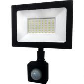 Прожектор світлодіодний LED 50W ultra 6400K IP65 з датчиком руху ONE LED